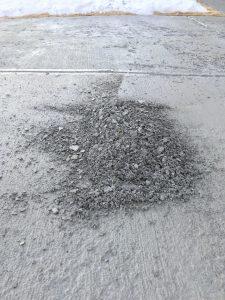 Driveway Concrete Dust
